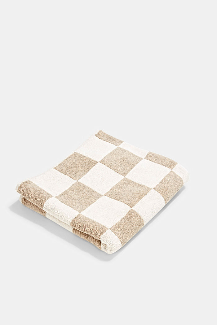 Terry cloth towel, 100% cotton, SAND, detail image number 0