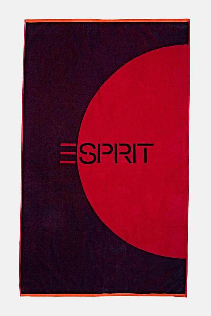 Badetuch mit grafischem Design, RASPBERRY, detail image number 3