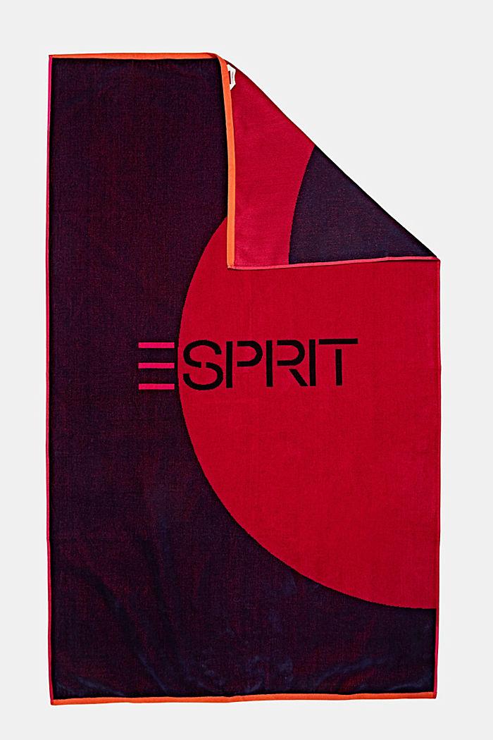 Badetuch mit grafischem Design, RASPBERRY, detail image number 2
