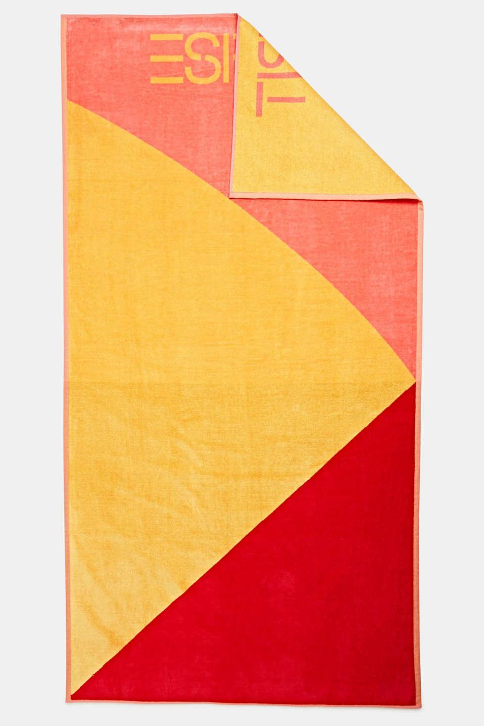Colour block beach towel, 100% cotton, SUN, detail image number 4