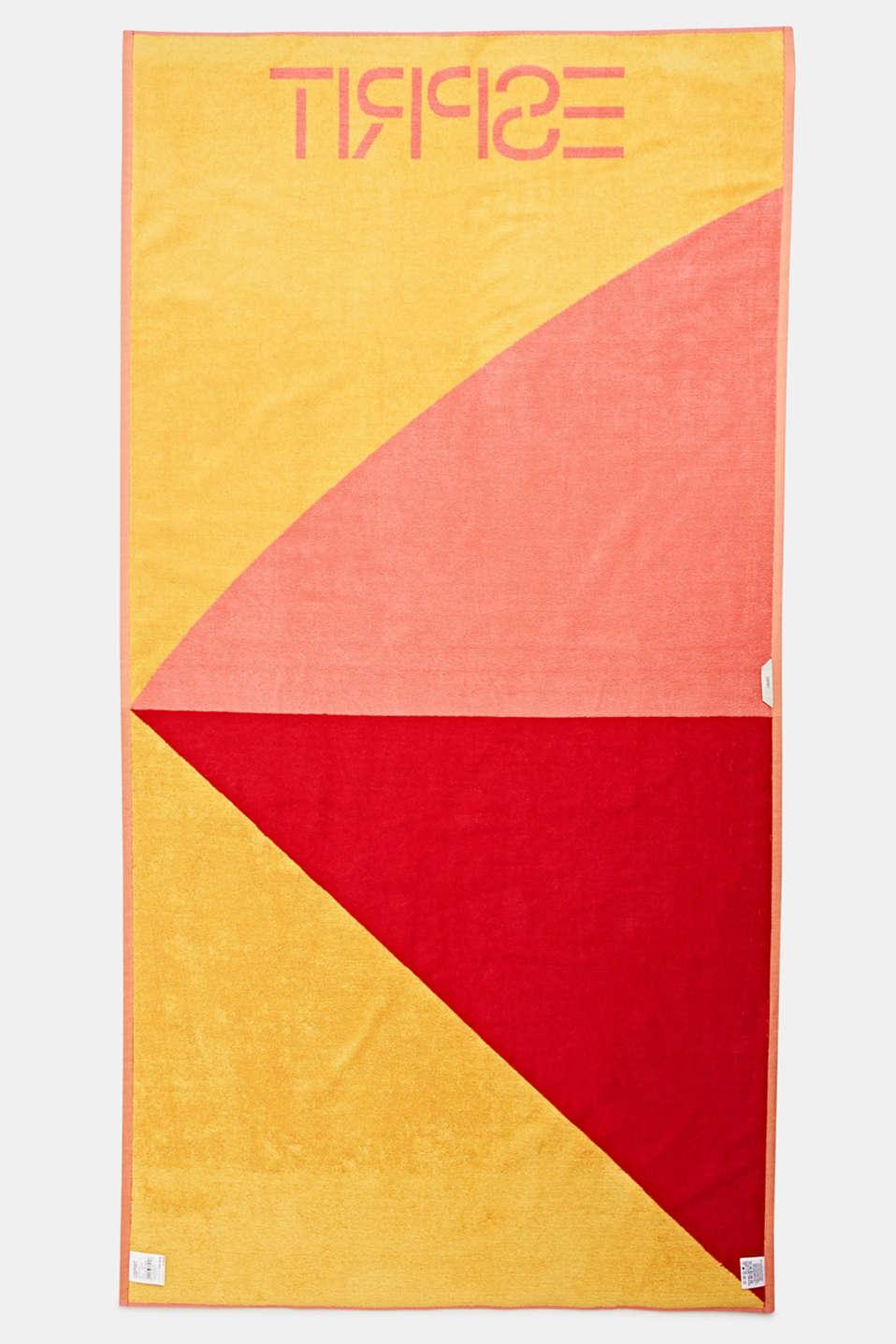 Colour block beach towel, 100% cotton, SUN, detail image number 2