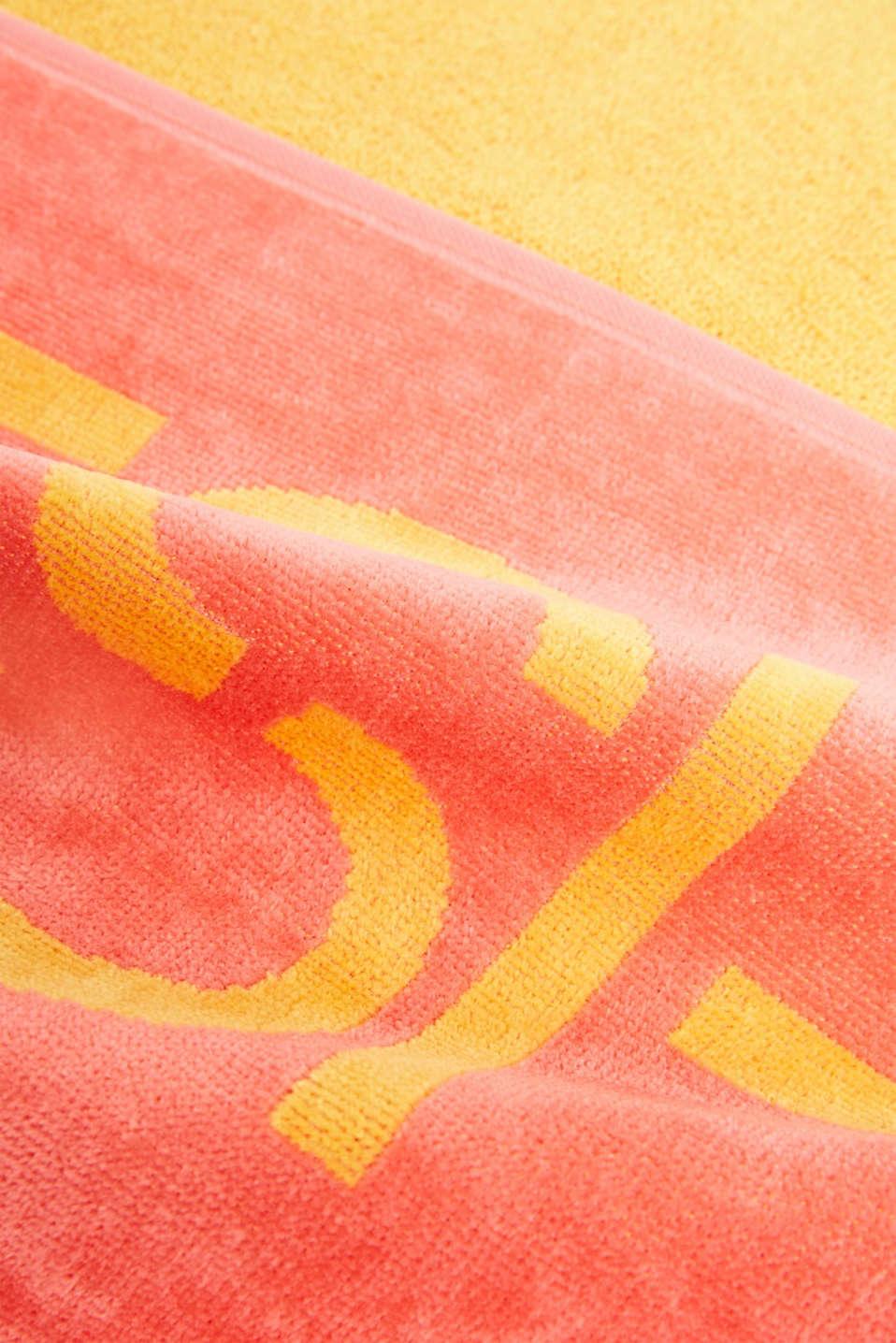 Colour block beach towel, 100% cotton, SUN, detail image number 1