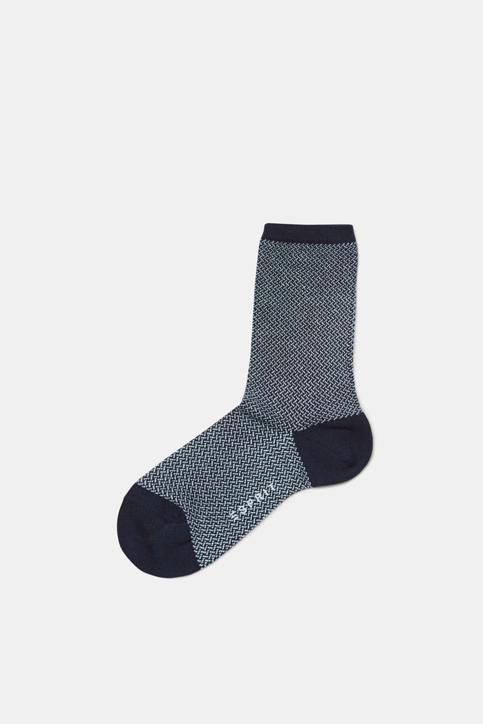 Esprit - Patterned socks in blended cotton