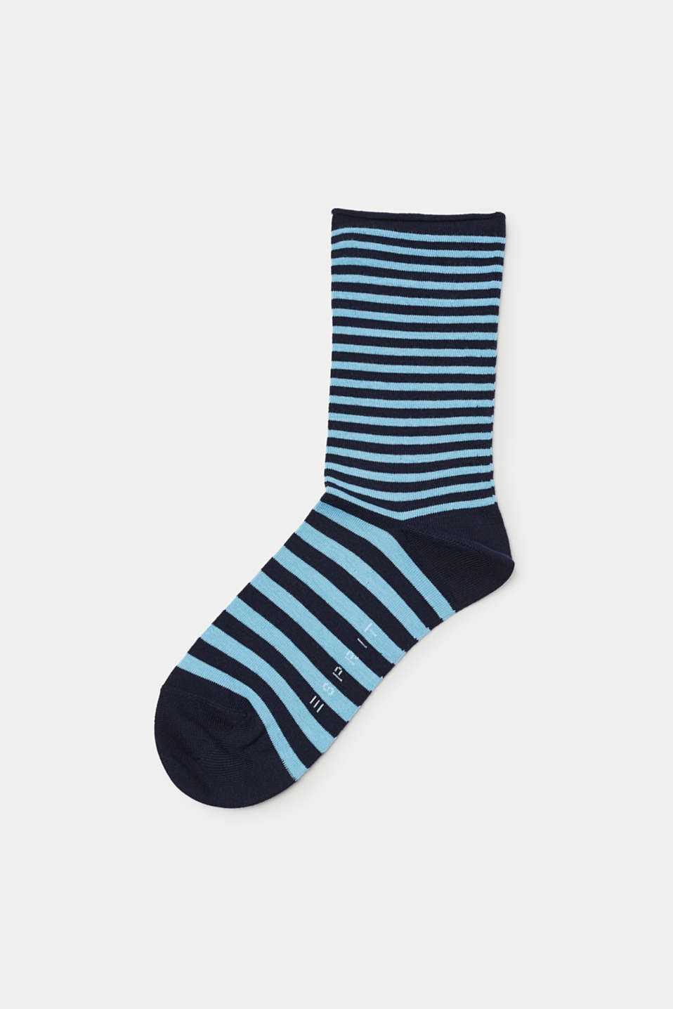 Striped socks in soft blended cotton with added stretch