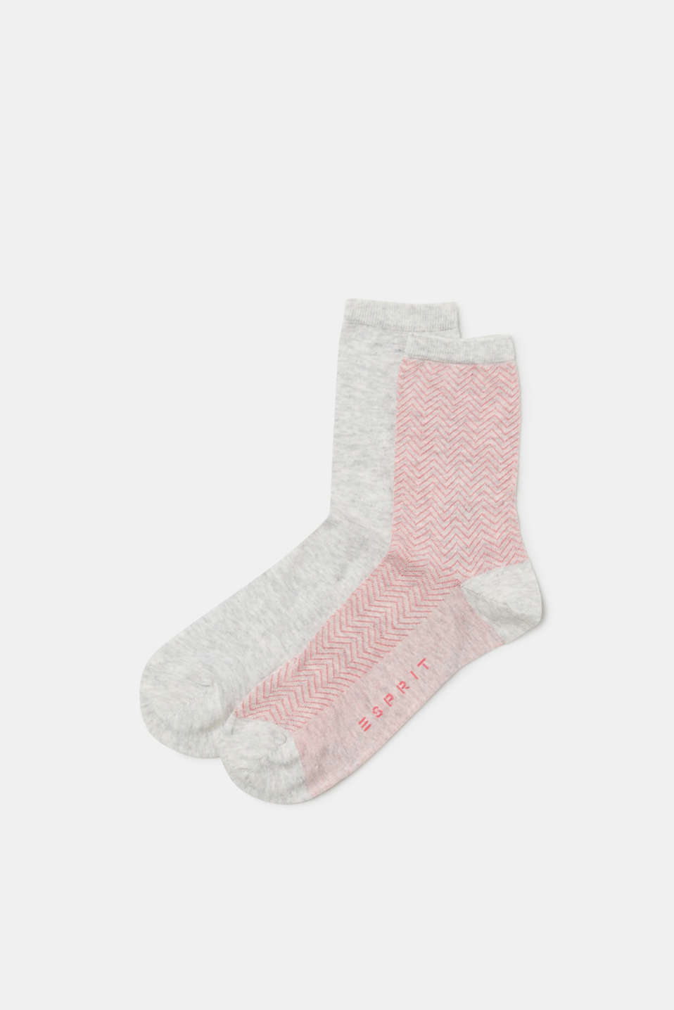Esprit - Double pack of socks with a zig-zag pattern