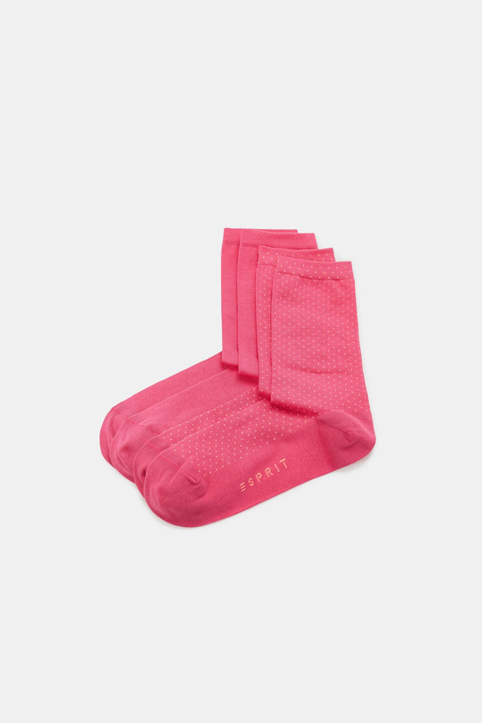 Esprit - Double pack of socks with fine dots