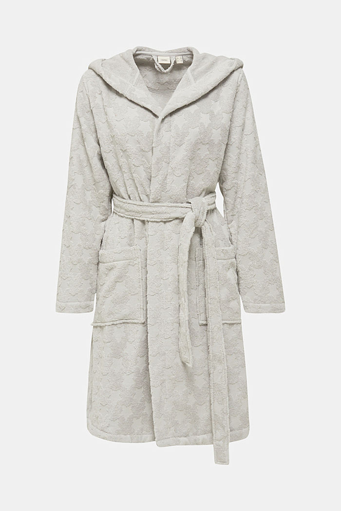Bathrobe with star intarsia, 100% cotton