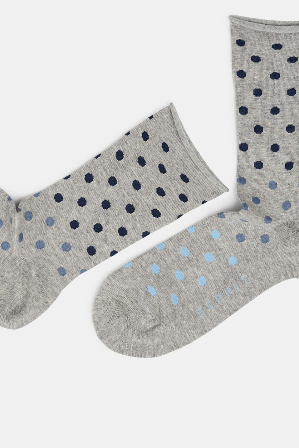 Polka dot socks, LIGHT GREY, detail image number 1