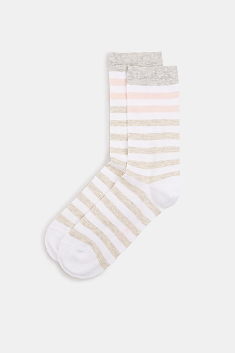 Socks with a melange striped pattern