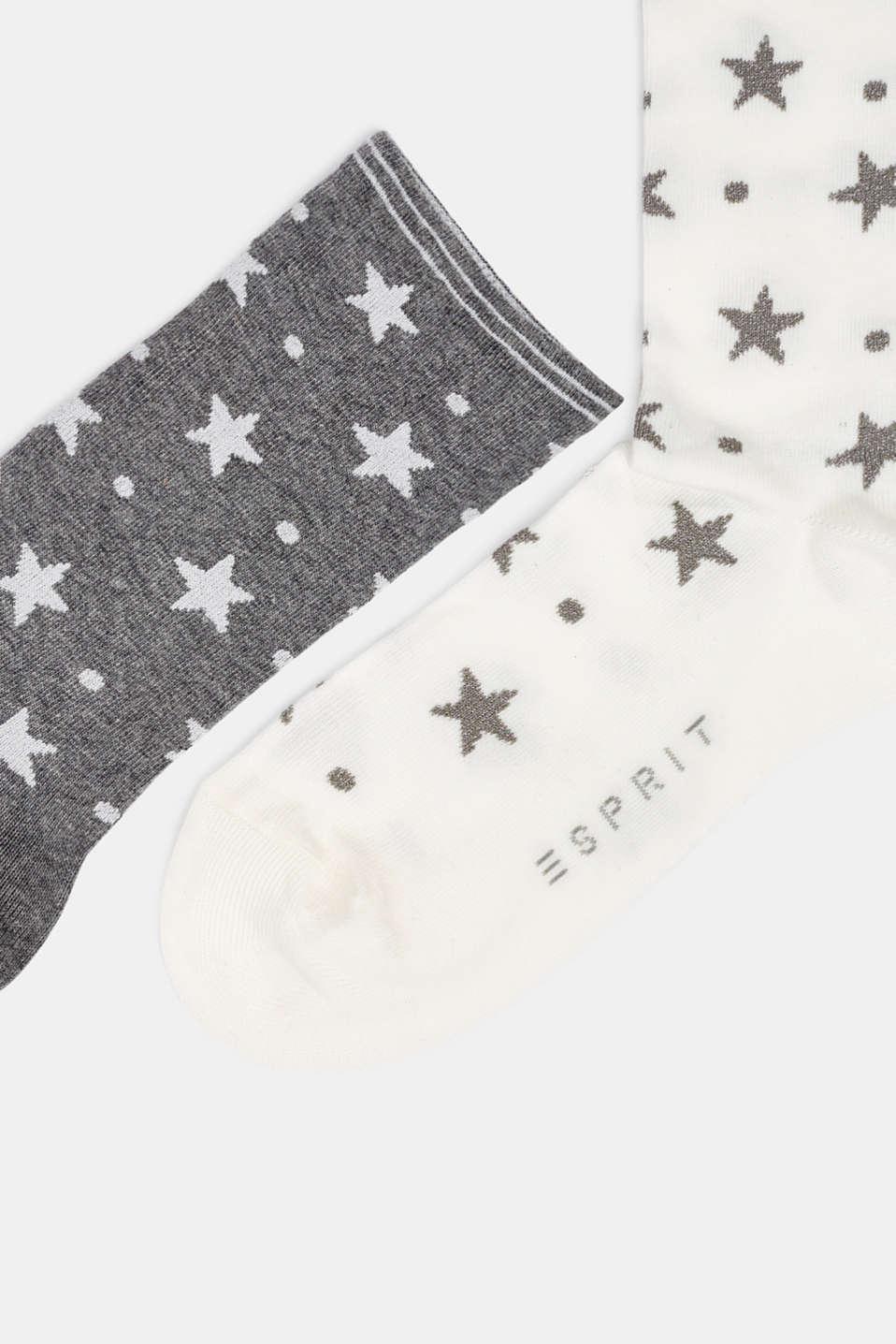 Socks, WHITE/GREY, detail image number 1