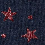 2-pack of socks with glitter accents, NAVY/RED, swatch