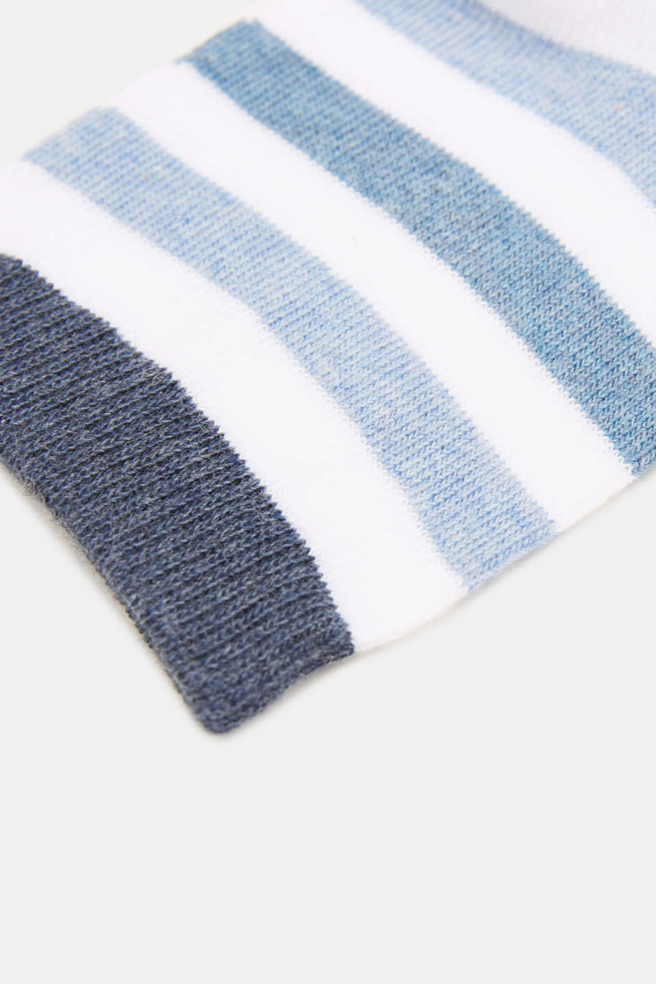 Double pack: socks with stripes and contrasting details, WHITE, detail image number 1