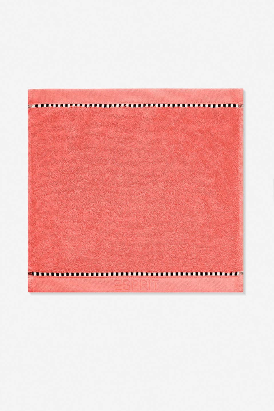 With TENCEL™: Terrycloth towel collection, CORAL, detail image number 6