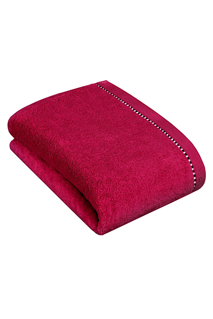 With TENCEL™: terry cloth towel collection, RASPBERRY, detail image number 2