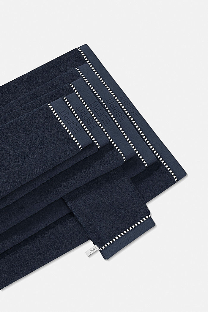With TENCEL™: terry cloth towel collection, NAVY BLUE, detail image number 0