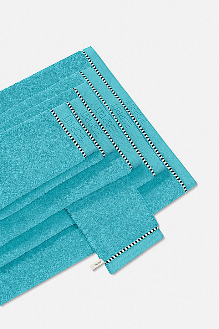 Mit TENCEL™: Handtuch-Serie aus Frottee, TURQUOISE, detail image number 0