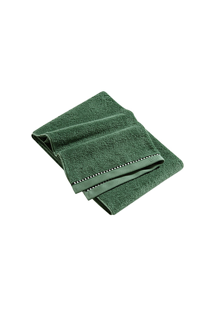 With TENCEL™: terry cloth towel collection, MOSS GREEN, detail image number 3
