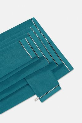 With TENCEL™: terry cloth towel collection, TEAL, detail