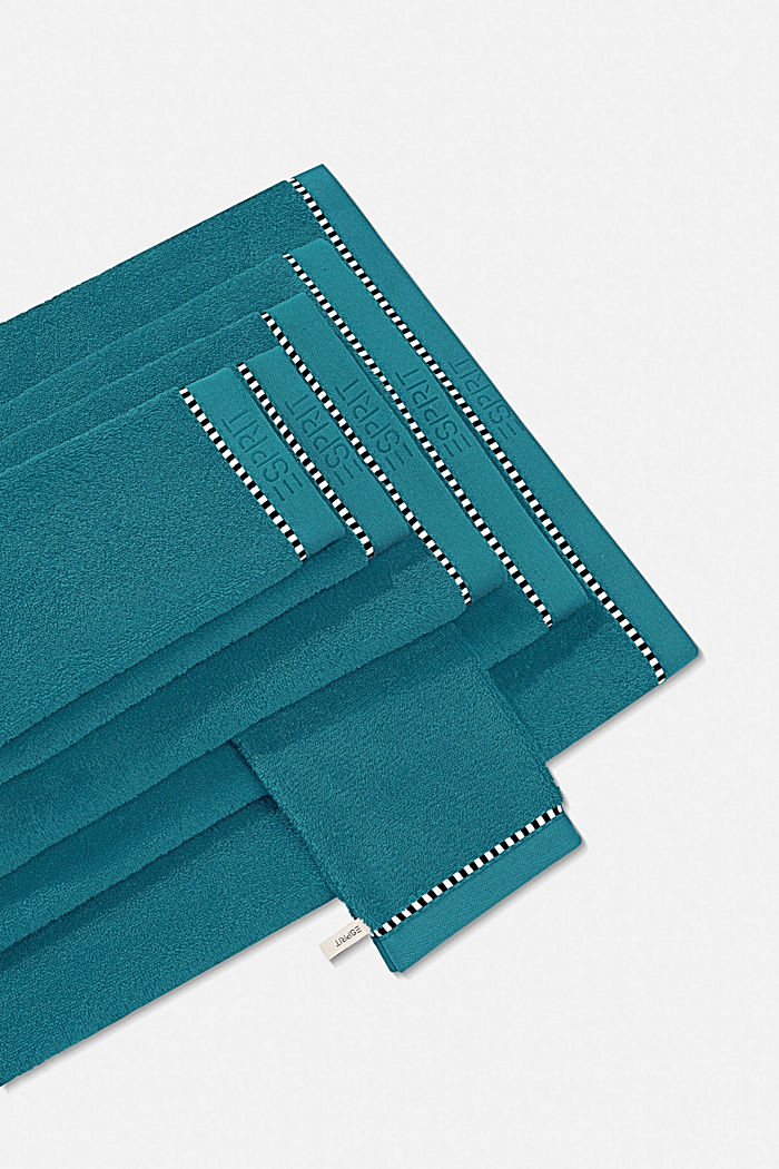 With TENCEL™: terry cloth towel collection, TEAL, detail image number 0