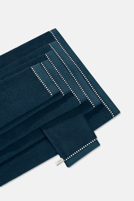 With TENCEL™: terry cloth towel collection, DARK PETROL, detail
