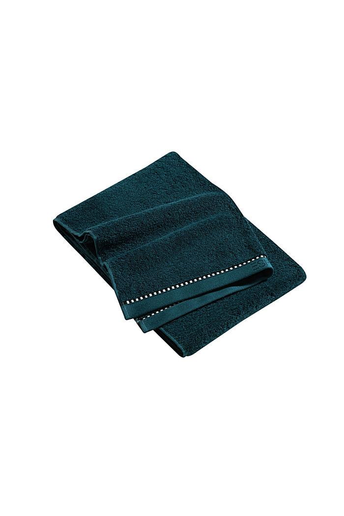 Mit TENCEL™: Handtuch-Serie aus Frottee, DARK PETROL, detail image number 3