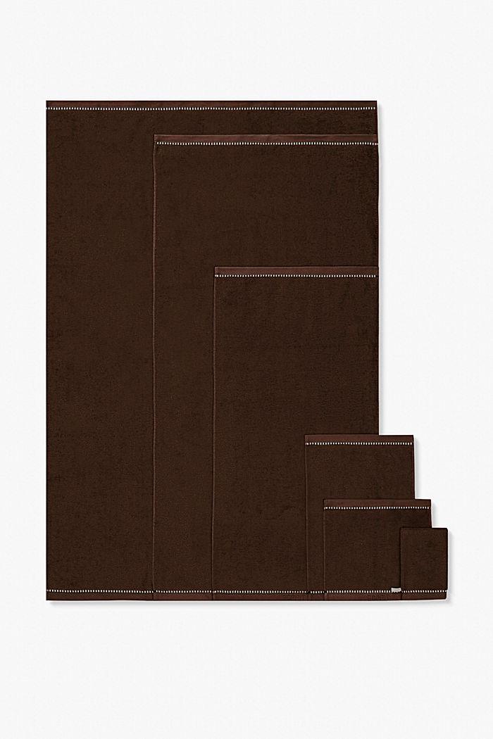 Met TENCEL™: handdoekenlijn van badstof, CHOCOLATE, detail image number 4