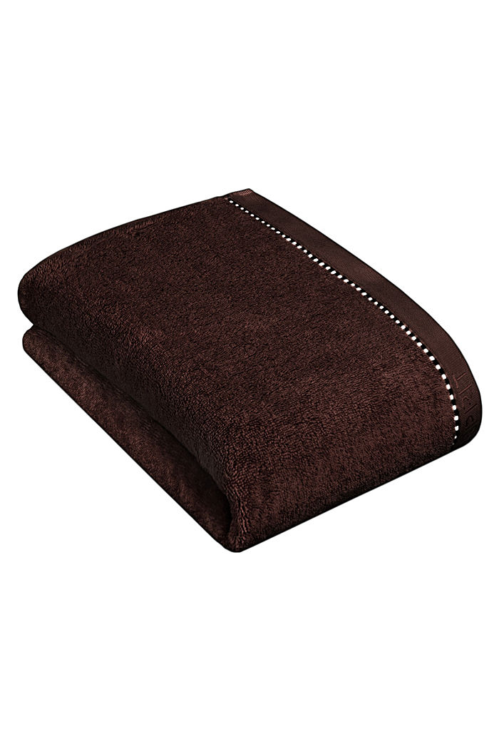 With TENCEL™: terry cloth towel collection, CHOCOLATE, detail image number 2