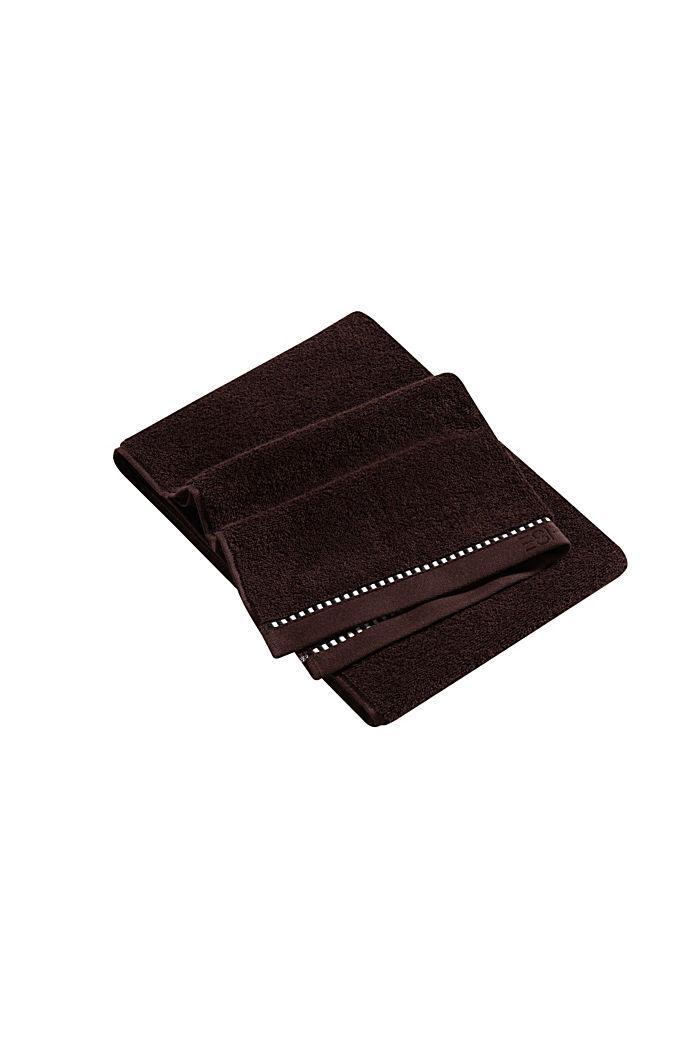 Met TENCEL™: handdoekenlijn van badstof, CHOCOLATE, detail image number 3