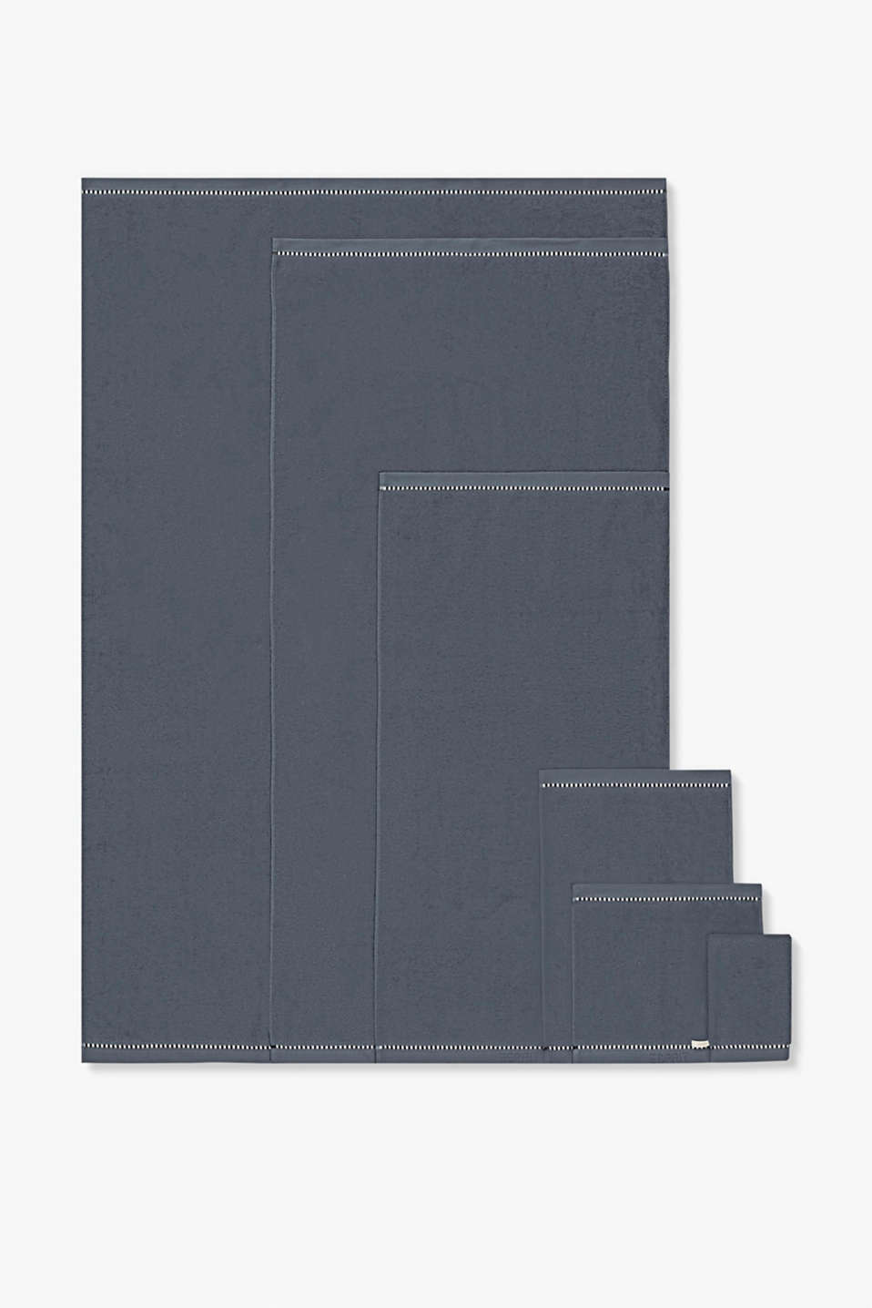 With TENCEL™: terry cloth towel collection, GREY STEEL, detail image number 4