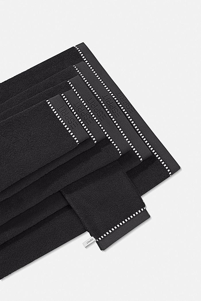 Mit TENCEL™: Handtuch-Serie aus Frottee, BLACK, detail image number 4