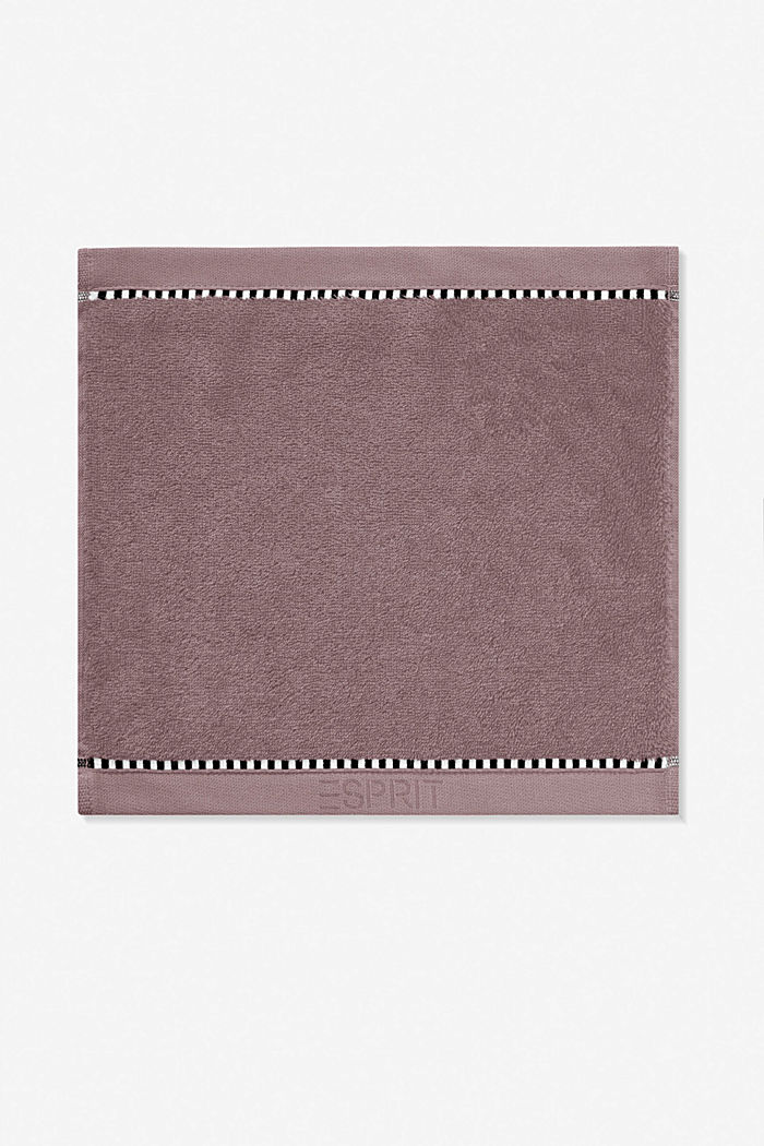 With TENCEL™: terry cloth towel collection, DUSTY MAUVE, detail image number 6