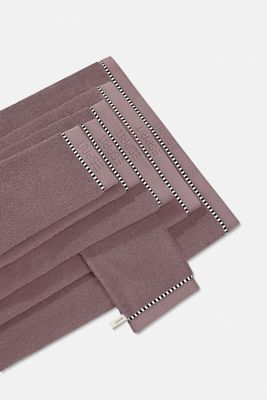 With TENCEL™: terry cloth towel collection, DUSTY MAUVE, detail