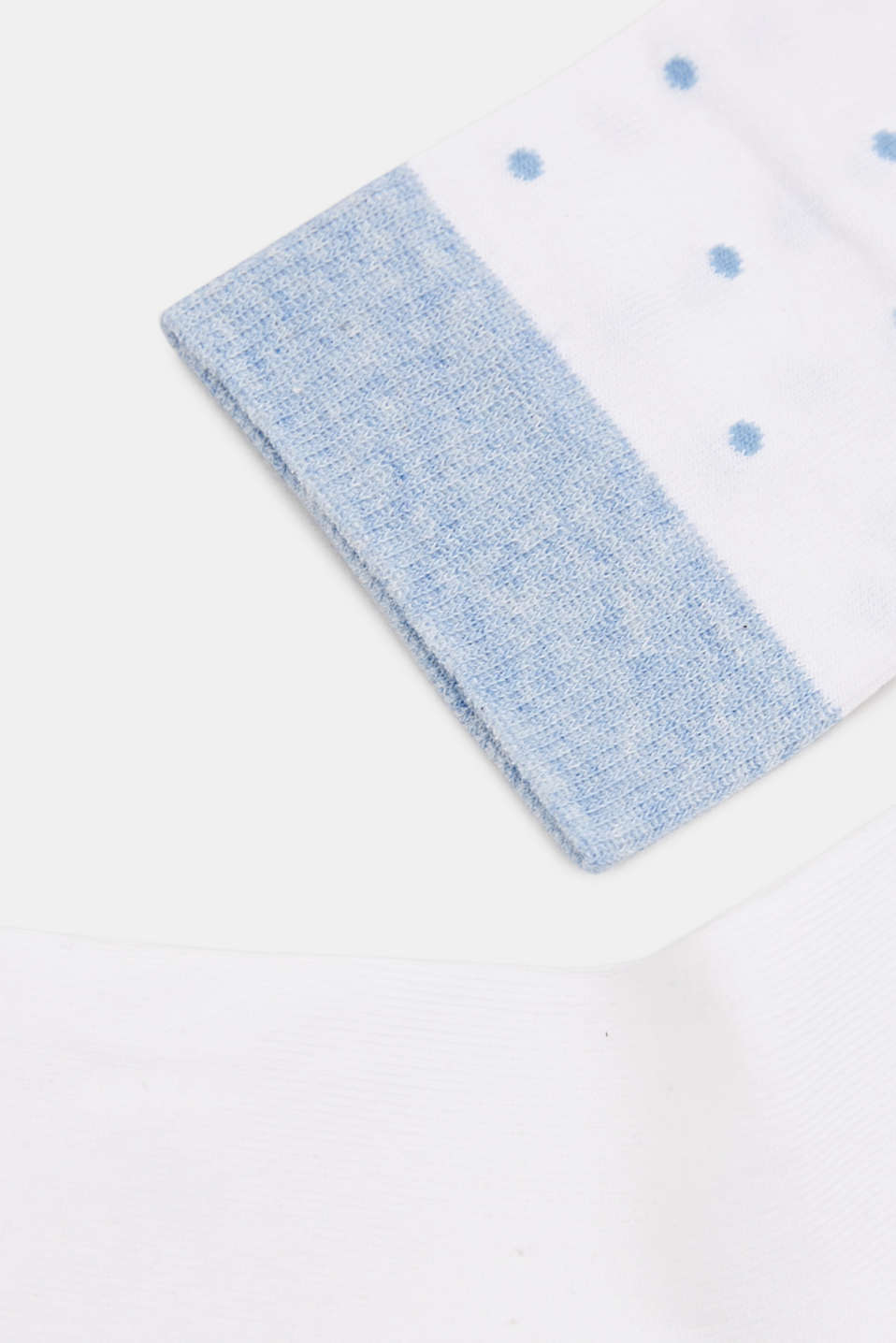 Double pack of socks with polka dots and in a two-tone look, WHITE, detail image number 1