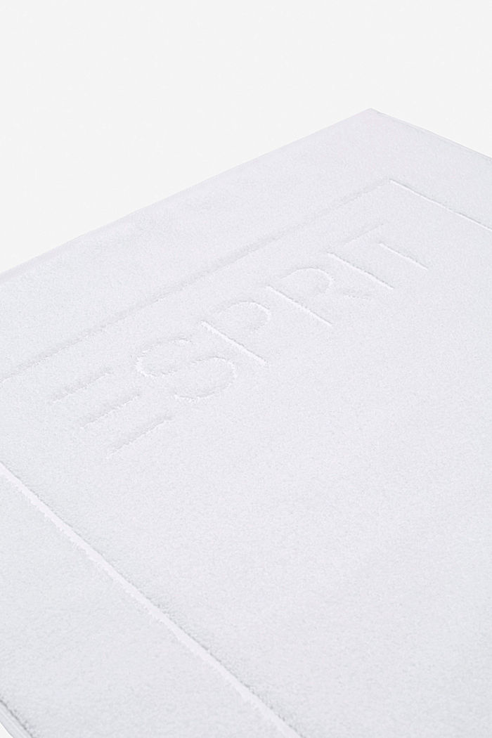 Terrycloth bath mat made of 100% cotton, WHITE, detail image number 2