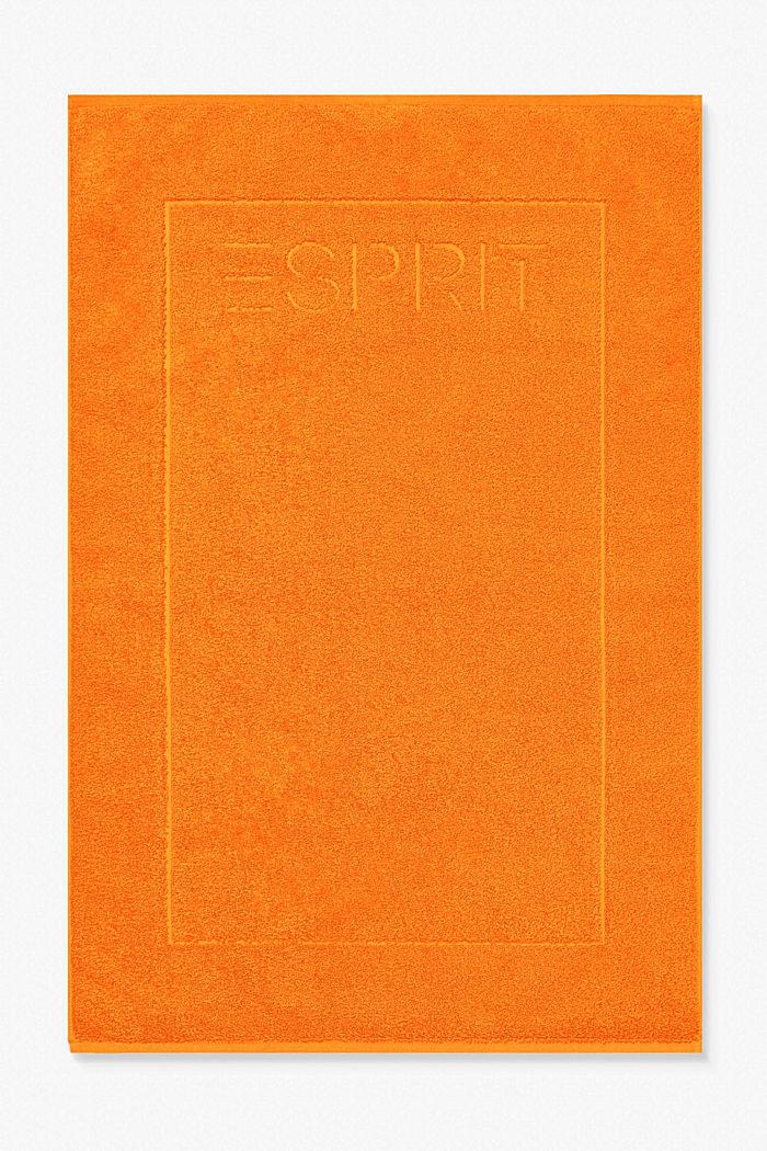 Terrycloth bath mat made of 100% cotton, MANDARIN, detail image number 0