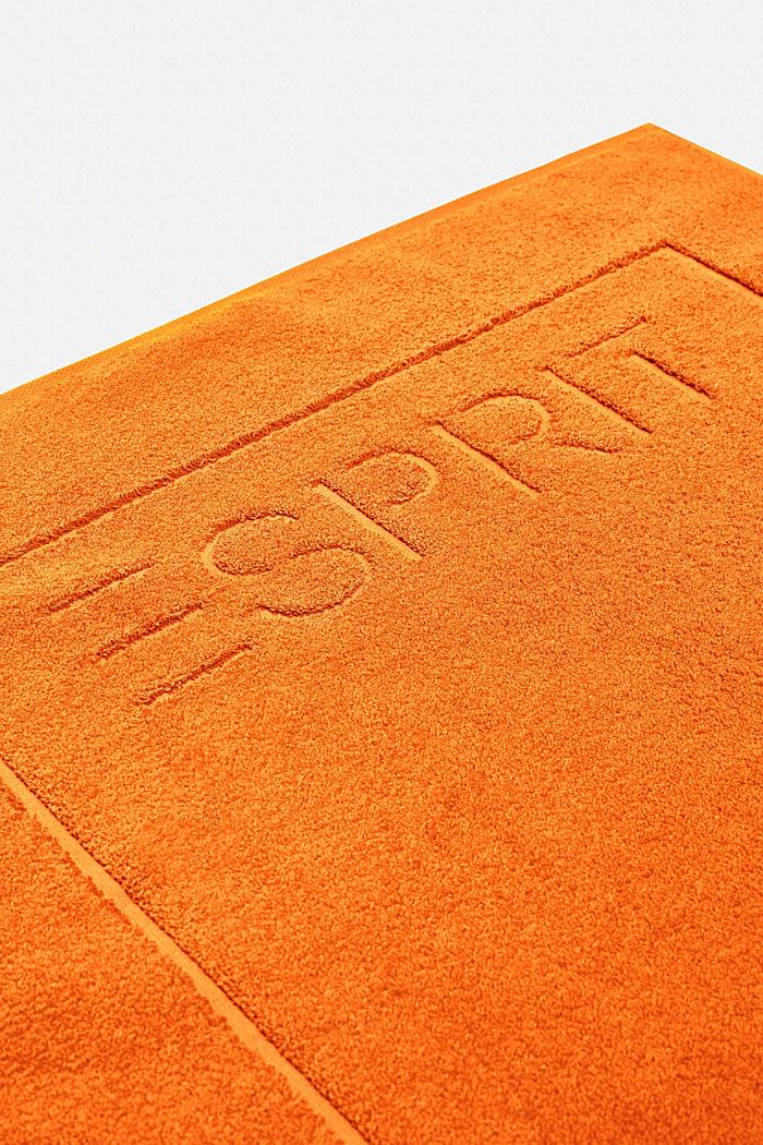 Terrycloth bath mat made of 100% cotton, MANDARIN, detail image number 2