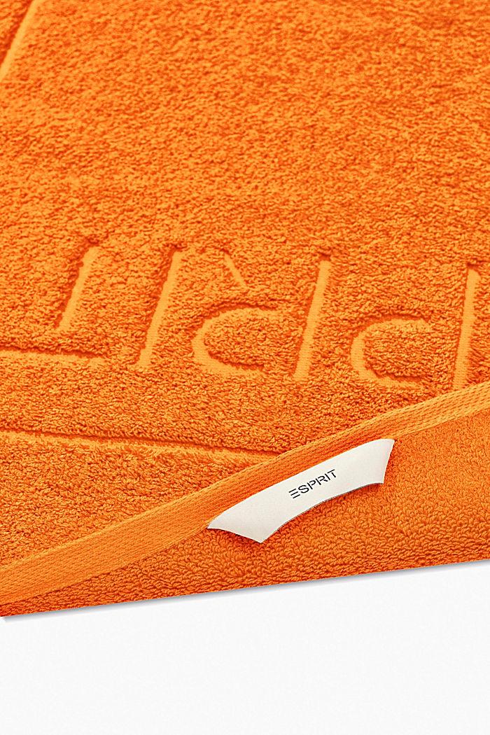 Terrycloth bath mat made of 100% cotton, MANDARIN, detail image number 1