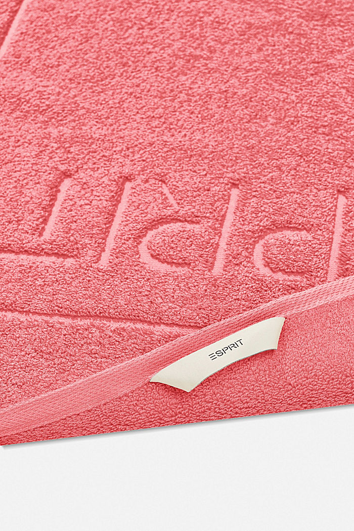 Frottee-Badematte aus 100% Baumwolle, CORAL, detail image number 1