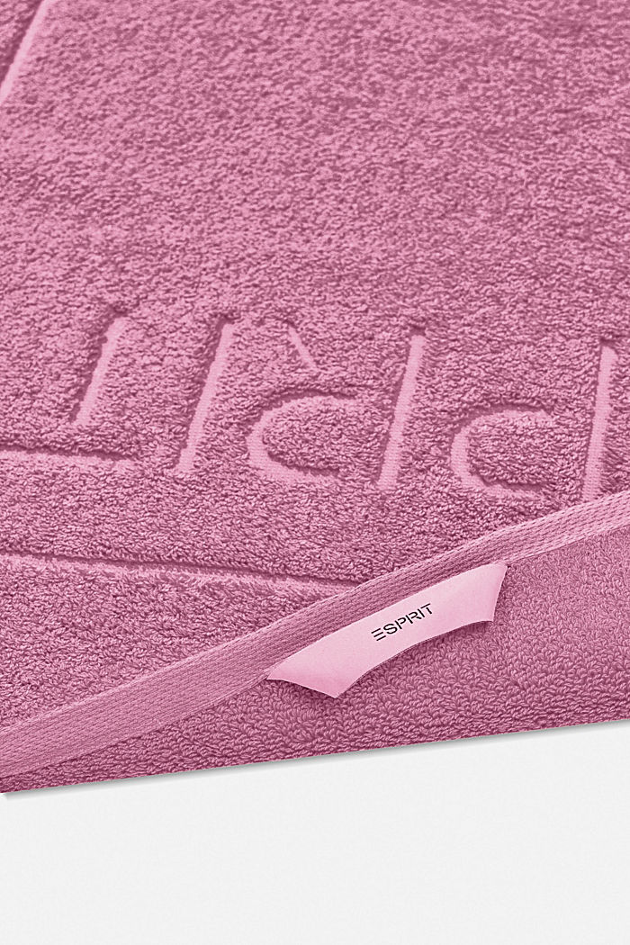 Terrycloth bath mat made of 100% cotton, BLACKBERRY, detail image number 1