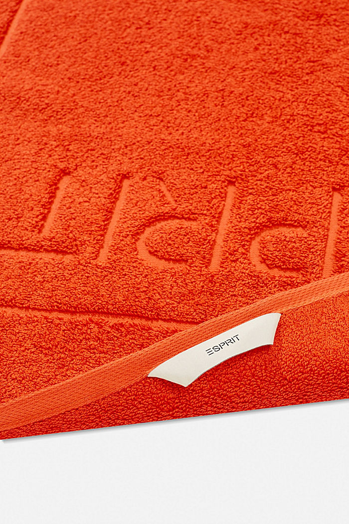 Terrycloth bath mat made of 100% cotton, FIRE, detail image number 1
