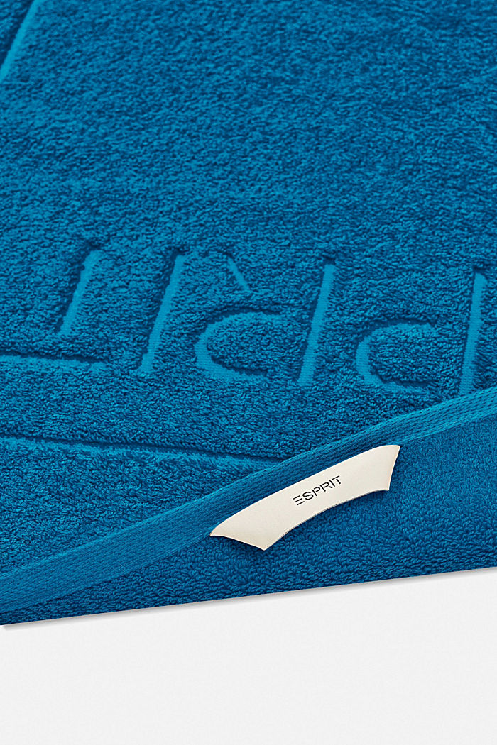Terrycloth bath mat made of 100% cotton, OCEAN BLUE, detail image number 1
