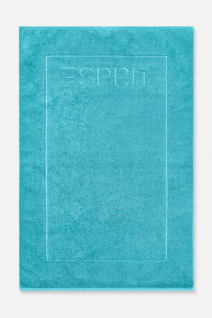 Terrycloth bath mat made of 100% cotton, TURQUOISE, detail image number 0