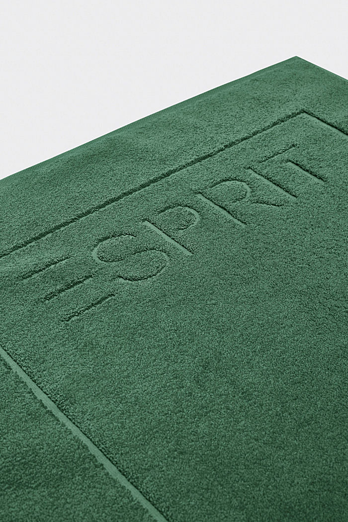 Terrycloth bath mat made of 100% cotton, MOSS GREEN, detail image number 2