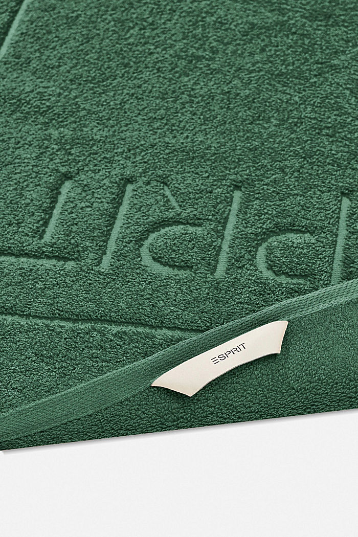 Terrycloth bath mat made of 100% cotton, MOSS GREEN, detail image number 1