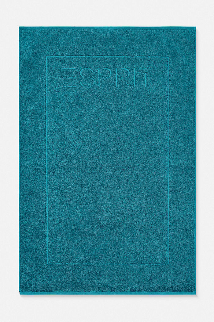 Terrycloth bath mat made of 100% cotton, TEAL, detail image number 0