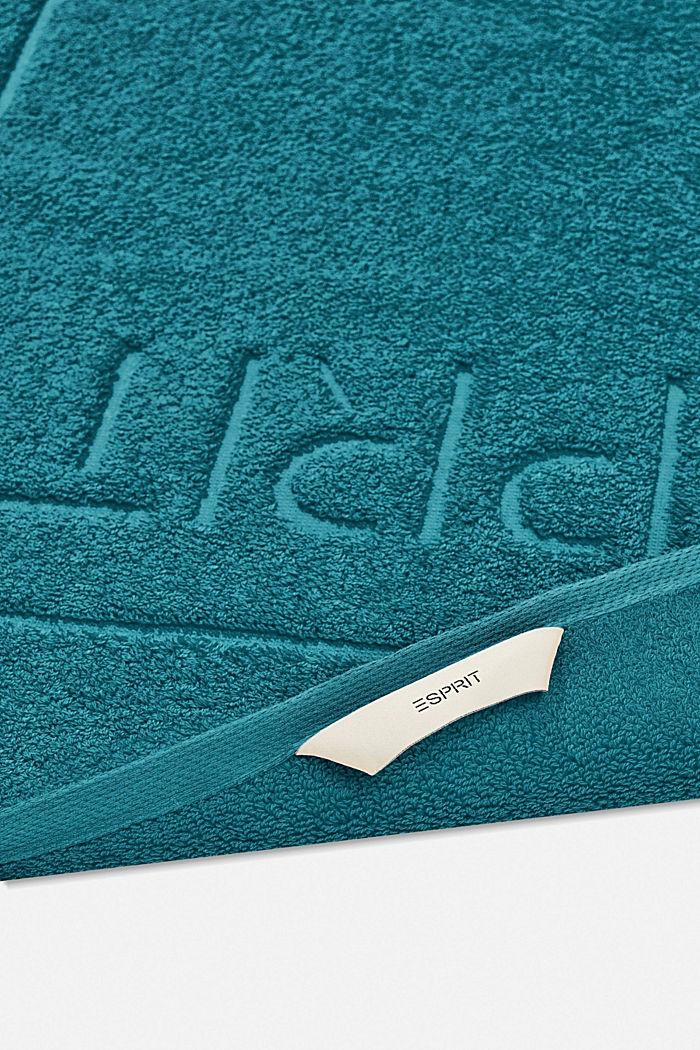 Terrycloth bath mat made of 100% cotton, TEAL, detail image number 1