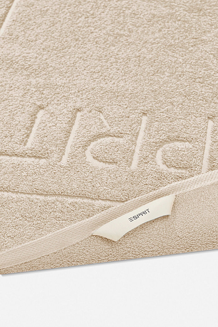 Terrycloth bath mat made of 100% cotton, SAND, detail image number 1