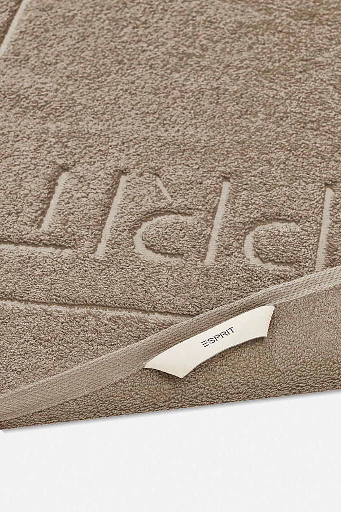Terrycloth bath mat made of 100% cotton, MOCCA, detail image number 1