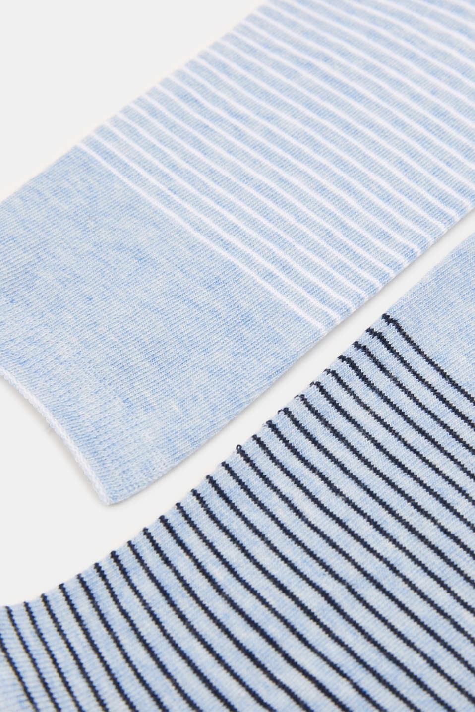 Double pack of socks with a striped look, JEANS, detail image number 1