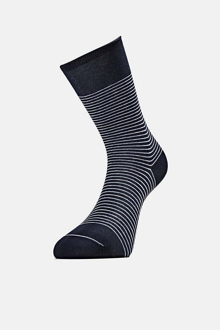 2er-Pack Socken im Streifen-Look, MARINE, detail image number 2